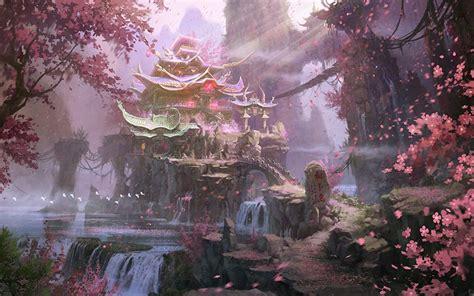 desktop hintergrundbilder japanische kirschbluete natur fantasy