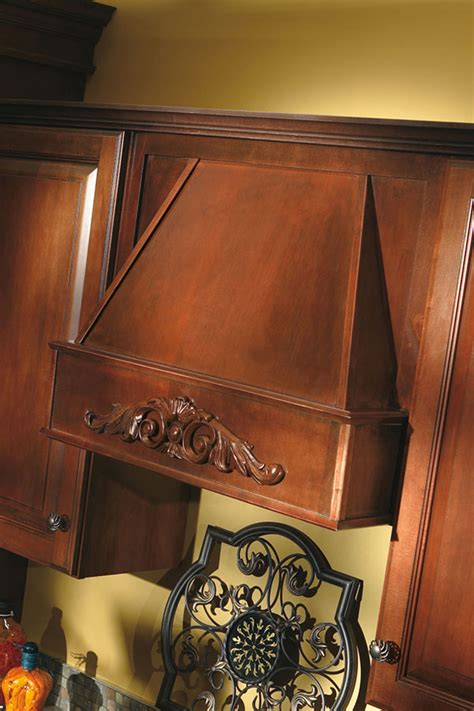 tapered wood hood aristokraft cabinetry