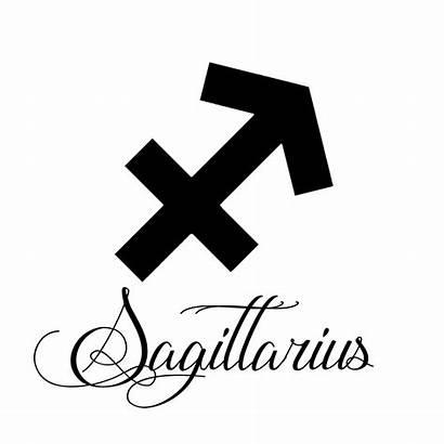 Sagittarius Zodiac Silhouette Sign Vinyl Sticker Decals