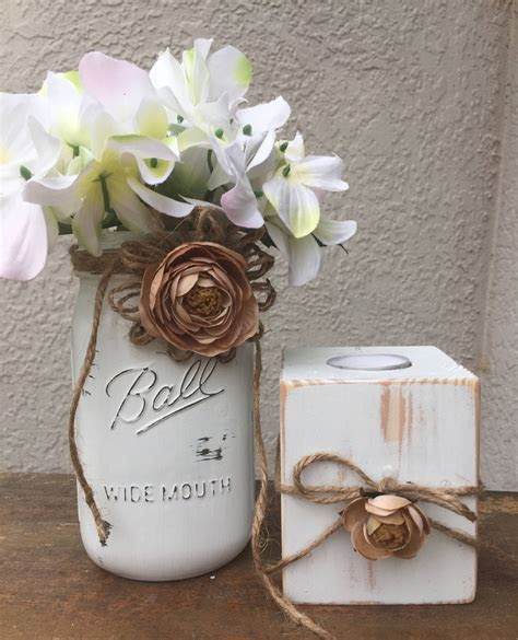 Rustic Centerpieces For Bridal Shower Decorations Rustic