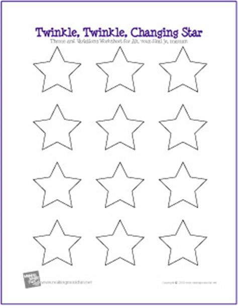 Twinkle, Twinkle, Changing Star  Free Listening Lesson Worksheet