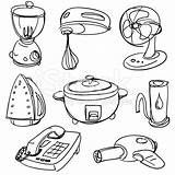 Coloring Appliances Household Appliance Pages Kitchen Colouring Furniture Buscar Con Google Worksheets Printable Cookware sketch template