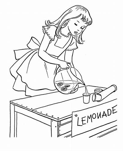 Lemonade Coloring Pages July Stand 4th Sheets