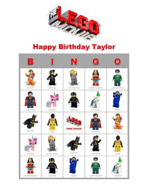 details   themed bingo personalized birthday party
