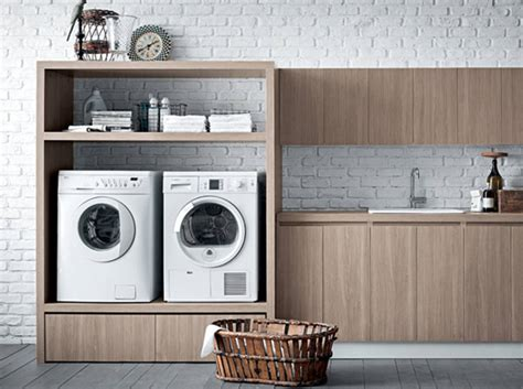 machine a laver dans la cuisine 14 coins buanderie agréables et pratiques des idées
