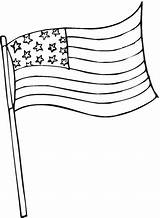 Flag Coloring American Pages Printables sketch template