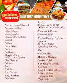 golden corral menu buffet