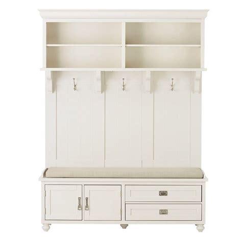 Kitchen Cabinet Organization Ideas - home decorators collection vernon polar white hall tree 7474300410 the home depot