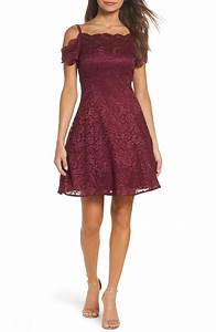 lace off the shoulder dresses for holiday parties winter With fit and flare dress for wedding guest