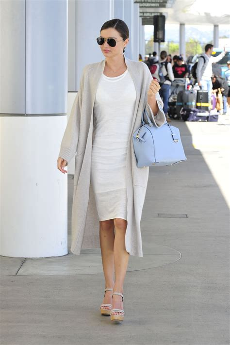 Style 2015 Frühling by Miranda Kerr Fashion Style At Lax Airport April 2015