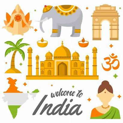 India Vector Welcome Culture Indian Map Elements