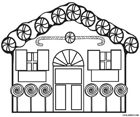 printable gingerbread house coloring pages  kids coolbkids