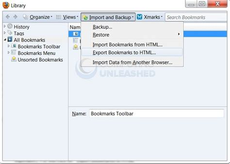 how to restore lost bookmarks on firefox