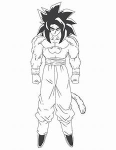 Dragon Ball Z Bardock Cartoon Coloring Page H M Pages