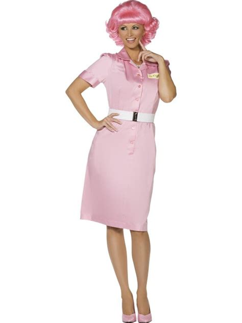 Adult 50s Grease Pink Ladies Frenchy Ladies Fancy Dress Hen Party Costume Outfit | eBay