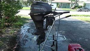 2003 Tohatsu 9 9hp Shortshaft 4 Stroke Tiller Outboard