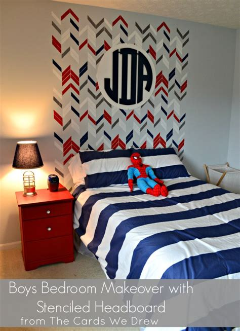 red white  blue big boy room project nursery