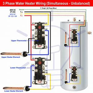3 Phase Water Heater Thermostat Wiring Diagram