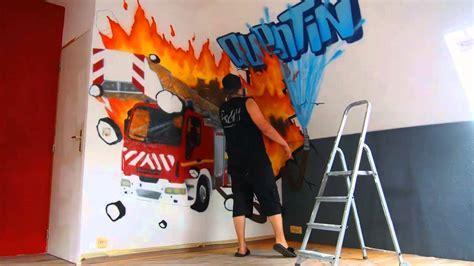 graff deco chambre garcon pompier