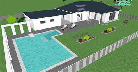 Danwood Haus Mit Garage by 3d Ansicht Bungalow Danwood Mit Pool U Garage