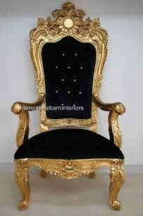 a emperor rose large ornate throne chair hshire barn