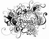Pagan Coloring Pages Wiccan Tattoo Embroidery Colors Tattoos Wicca Moon Designs Sun Pagans Adult Printable Goddess Witchcraft Drawings Pandora Eclypse sketch template