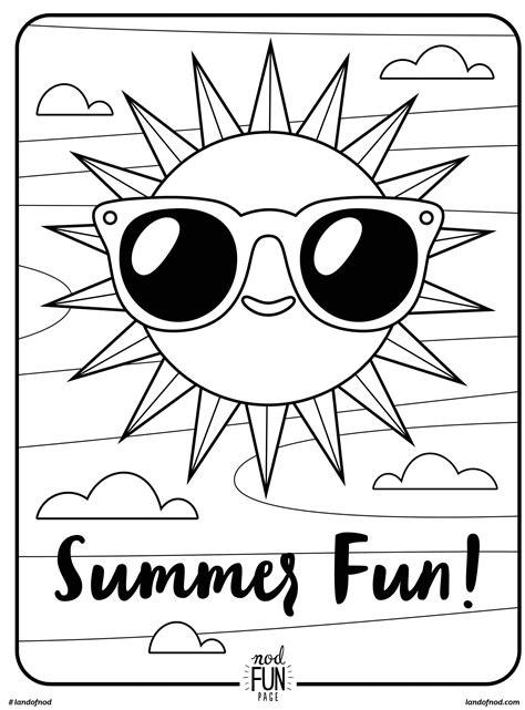 free printable coloring page summer fun summer cool coloring pages easy coloring pages
