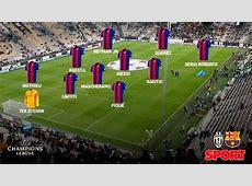 Alineaciones del JuventusFC Barcelona de Champions