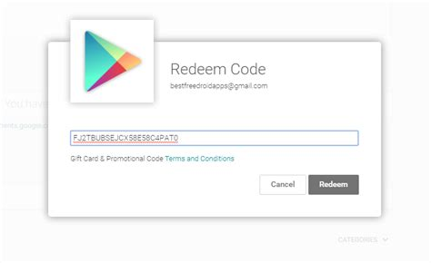 google play redeem codes list  apps updated daily