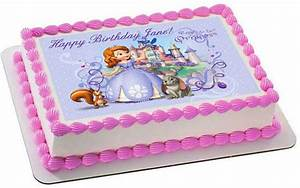 SOFIA THE FIRST Edible Birthday Cake OR Cupcake Topper