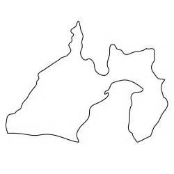 静岡県:静岡県 白 地図|フリー イラスト