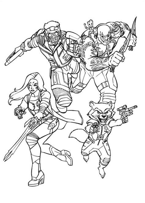 guardians   galaxy team coloring page