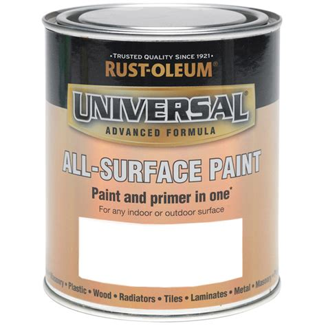 paint and primer in one rust oleum universal all surface brush paint and primer white satin 250ml ebay
