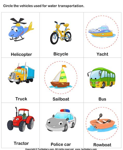 Transport By Water Worksheet