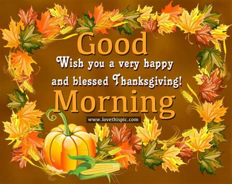 good morning wishing    happy  blessed thanksgiving pictures   images
