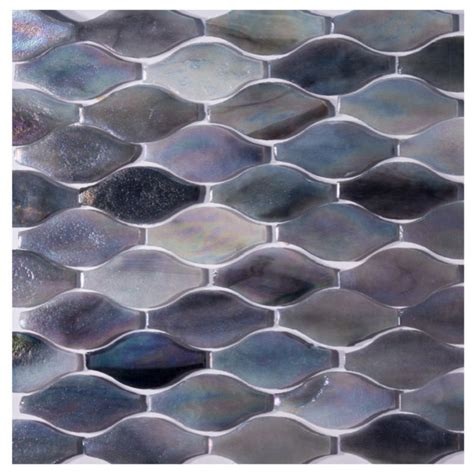 wavy glass tile wavy shaped glass mosaic tile contemporary mosaic tile by gl stone ltd