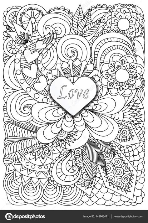 Heart shaped coloring pages   Heart shape the word LOVE on