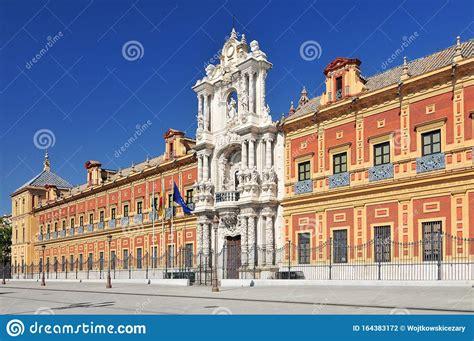 roma palacio telmo san spain avenida seville andalusia along central street rua andaluzia espanha sevilha longo frente ao centro