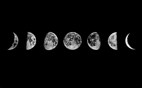 Moon Phases Background Moon Phases Wallpapers Hd Wallpaper Desktop Res