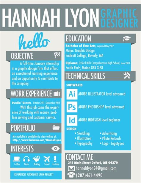 Chronological Resume Graphic Design by 25 Best Ideas About Graphic Designer Resume On