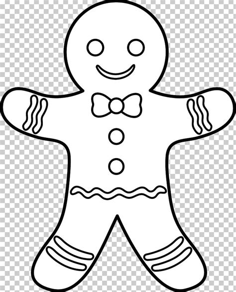 Gingerbread man clipart black and white collection