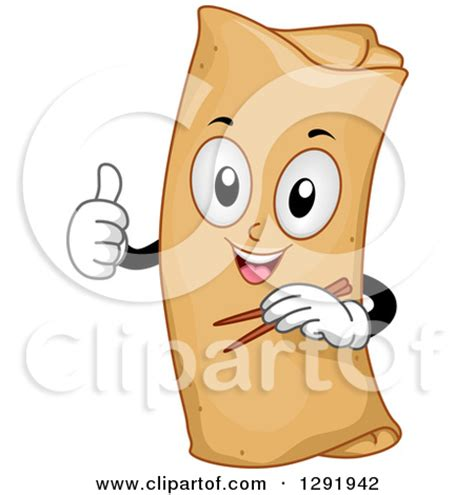 cartoon rolls egg rolls clipart 21