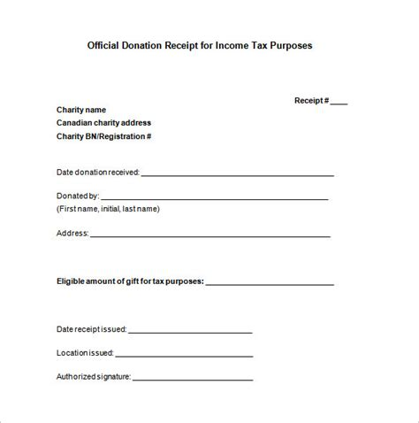 donation receipt templates    premium