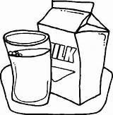 Milk Coloring Carton Colouring Netart Delicious Printable Glass Drawing sketch template