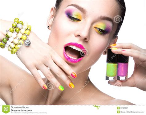 Beauty Girl Face Stock Image