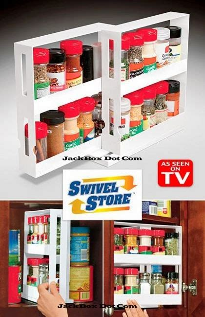 Space Saver Spice Rack As Seen On Tv by Multifunction Swivel Store Space Saving Organizer Tool