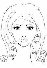 Coloring Pages Face Makeup Printable Template Barbie Faces Sheets Templates Spa Adult Perfect Adults American Shape African Buzzle Printables Beauty sketch template