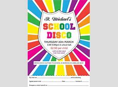 School Disco, Thursday 30th March St Michael's CE