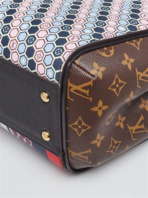 louis vuitton limited edition monogram canvas  multicolor graphic pattern kimono tote bag