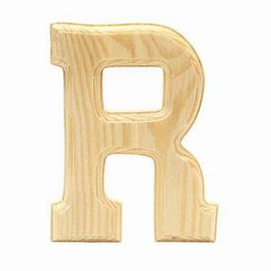wood letter quotrquot walmartca With wooden alphabet letters walmart